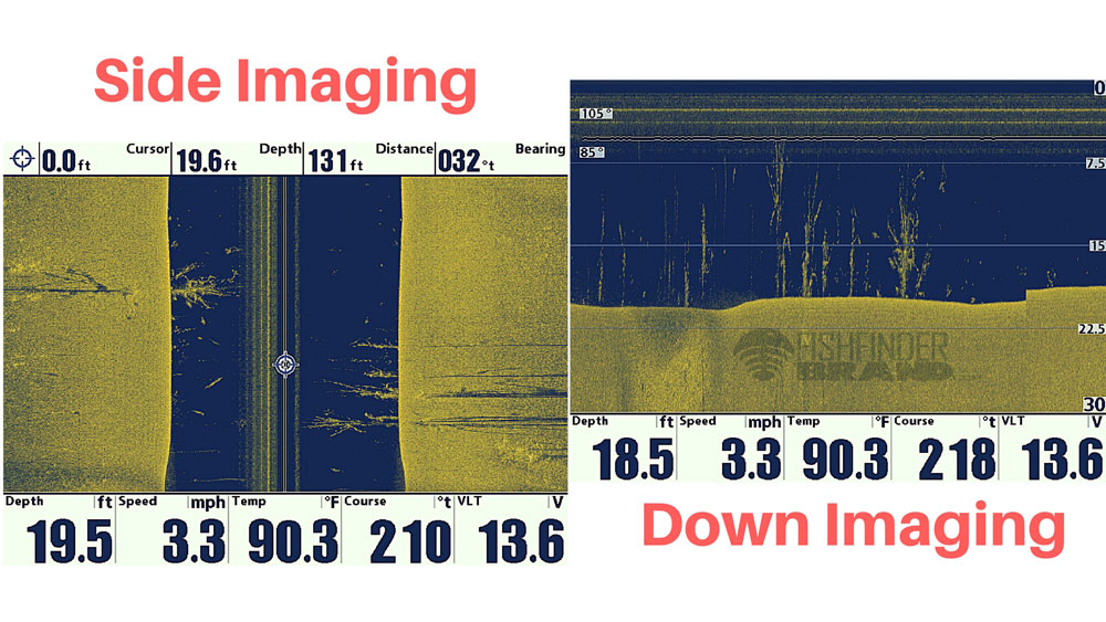 Down-Imaging vs SideScan Imaging